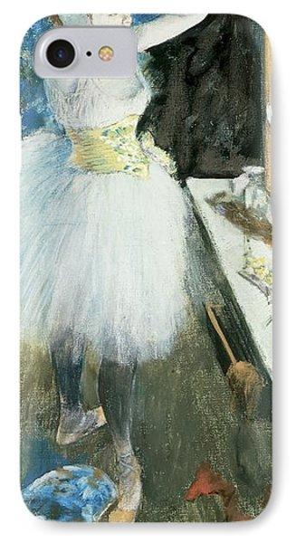 Dancer In Her Dressing Room Phone Case by Edgar Degas
