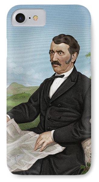 David Livingstone, Scottish Explorer Phone Case by Maria Platt-evans