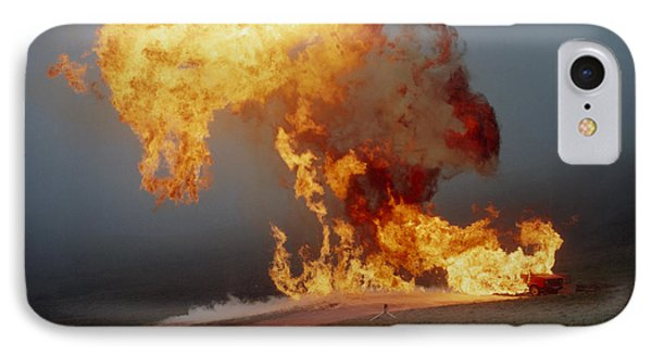 Fireball From Liquid Petroleum Gas Explosion IPhone Case by Crown Copyrighthealth & Safety Laboratory