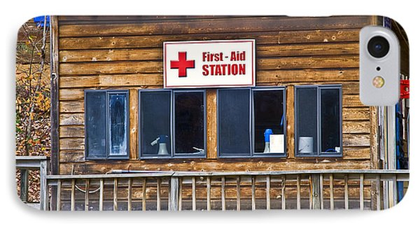 First Aid Station Phone Case by Susan Leggett