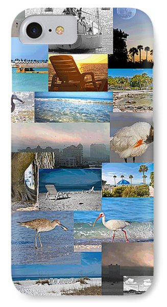 Florida Collage Phone Case by Betsy Knapp
