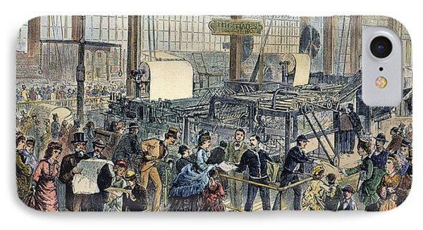 Hoe Web Printing Press Phone Case by Granger