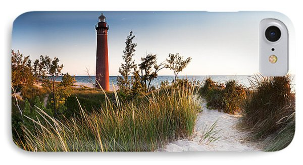 Little Sable Point Light Station Phone Case by Larry Carr
