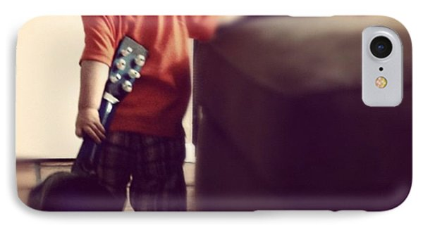 Lovin Life And Playing Guitar Phone Case by Stephanie Brown