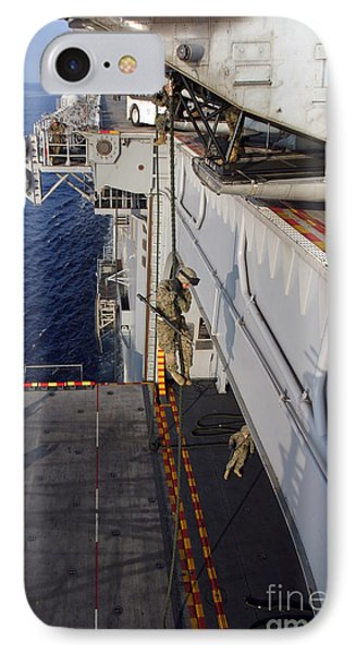 Marines And Sailors Fast-rope Phone Case by Stocktrek Images