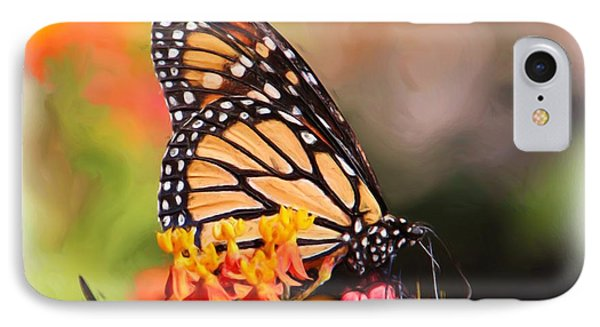 Monarch And Milkweed Phone Case by Heidi Smith