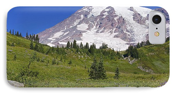 Mount Rainier Meadow Phone Case by Sean Griffin