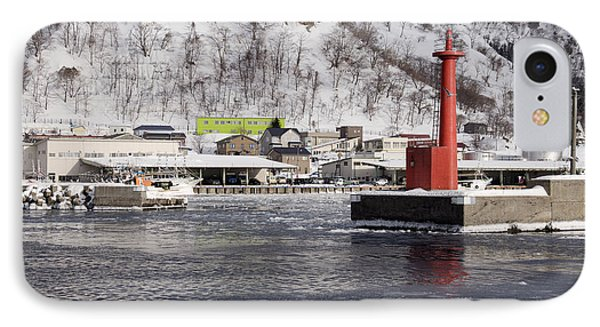 Pier Light At Fishing Port Harbor IPhone Case by Jeremy Woodhouse