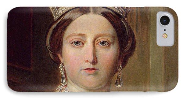 Portrait Of Queen Victoria IPhone Case by Franz Xavier Winterhalter