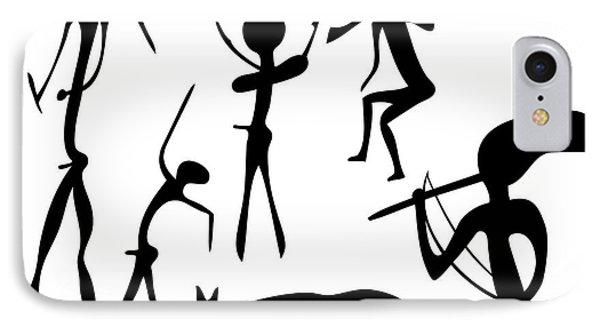 Primitive Art - Various Figures Phone Case by Michal Boubin