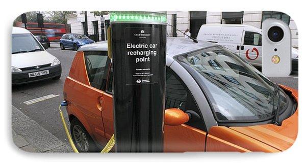 Recharging An Electric Car Phone Case by Martin Bond