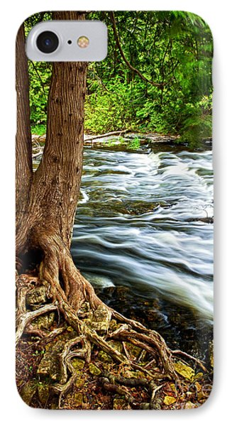 River Through Woods IPhone Case by Elena Elisseeva