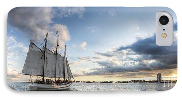 Schooner Pride Sunset Charleston Sc IPhone Case by Dustin K Ryan