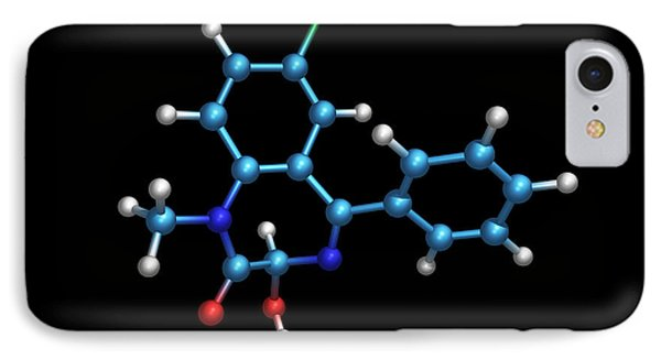 Sleeping Pill Molecule Phone Case by Dr Tim Evans