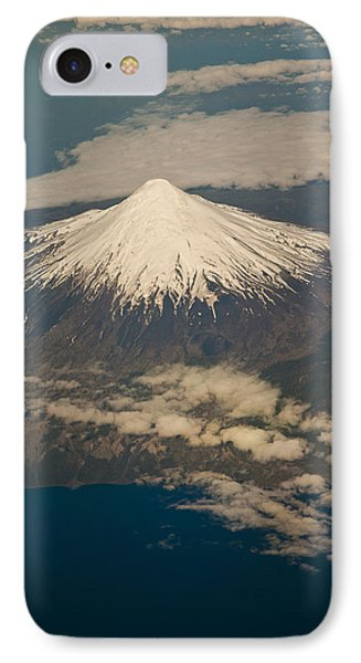 Snowcovered Volcano Andes Chile Phone Case by Colin Monteath