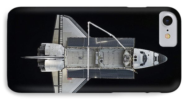 Space Shuttle Atlantis Backdropped Phone Case by Stocktrek Images