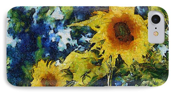 Sunflowers Phone Case by Michelle Calkins