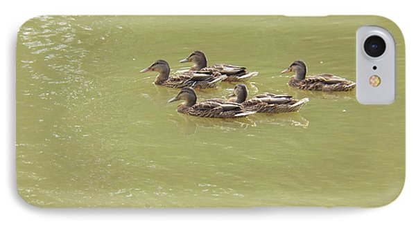 Swimming Ducks Phone Case by Corinne Elizabeth Cowherd