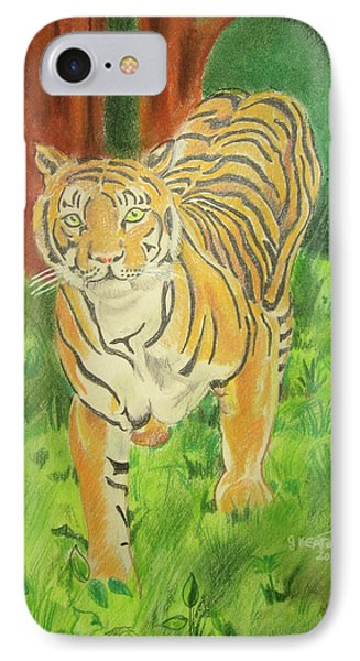 Tiger On The Prowl Phone Case by John Keaton