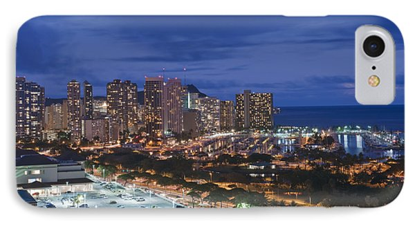 Usa Hi Honoluluwaikiki Skyline IPhone Case by Rob Tilley
