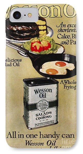 Vegetable Oil Ad, 1918 Phone Case by Granger