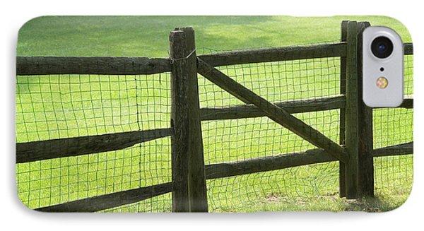 Wood Fence Phone Case by Tony Cordoza