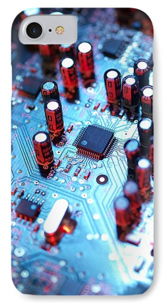 Circuit Board Phone Case by Tek Image
