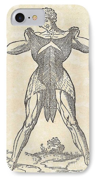 Historical Anatomical Illustration Phone Case by Science Source