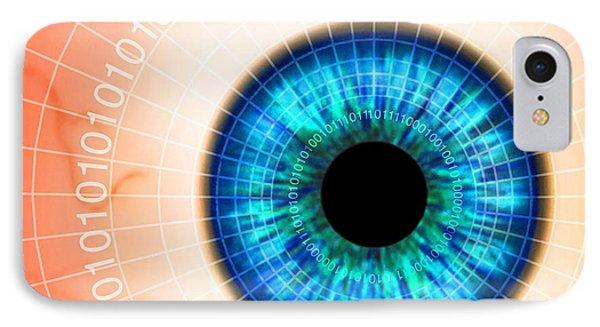 Biometric Eye Scan Phone Case by Pasieka
