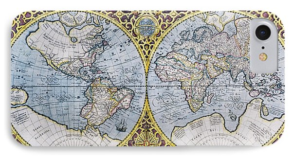 16th Century World Map Phone Case by Georgette Douwma