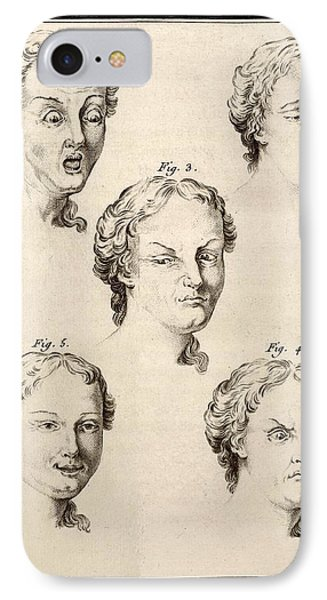 1749 Human Emotions And Expression Buffon Phone Case by Paul D Stewart