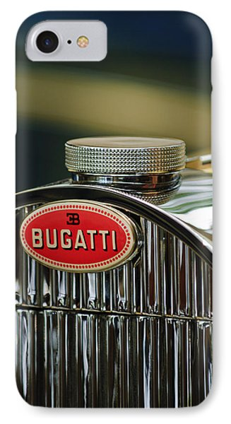 1935 Bugatti Type 57 Grand Raid Roadster Emblem Phone Case by Jill Reger