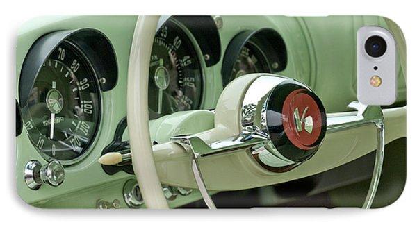 1954 Kaiser Darrin Steering Wheel Phone Case by Jill Reger