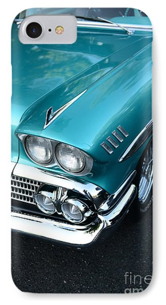 1958 Chevy Belair Front End 01 Phone Case by Paul Ward