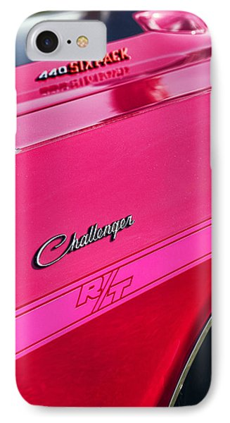 1970 Dodge Challenger Rt 440 Six Pack - Tickled Pink IPhone Case by Gordon Dean II