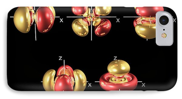 5d Electron Orbitals Phone Case by Dr Mark J. Winter