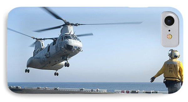 A Ch-46e Sea Knight Helicopter Prepares Phone Case by Stocktrek Images