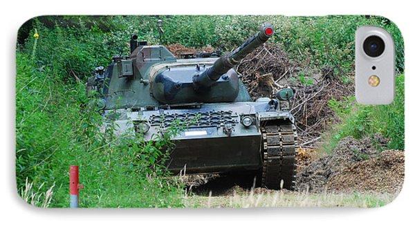 A Leopard 1a5 Mbt Of The Belgian Army Phone Case by Luc De Jaeger