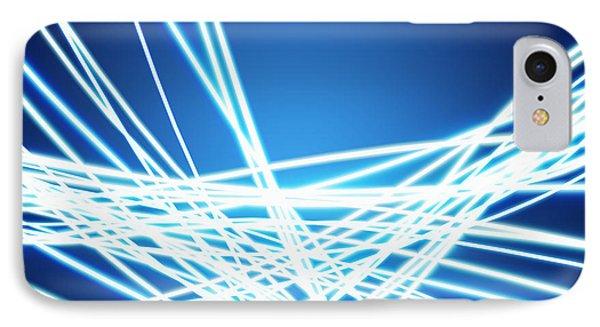 Abstract Of Weaving Line IPhone Case by Setsiri Silapasuwanchai