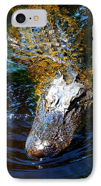 Alligator In Mississippi River Phone Case by Paul Ge