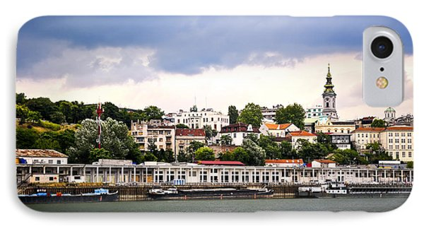 Belgrade Cityscape On Danube Phone Case by Elena Elisseeva