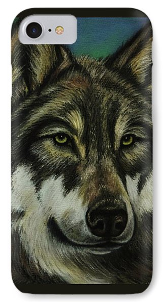 Blue Wolf IPhone Case by Lucy Deane