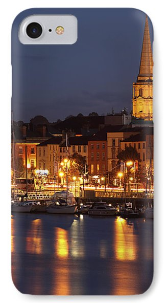 Boats Moored On River Suir At City Phone Case by Trish Punch