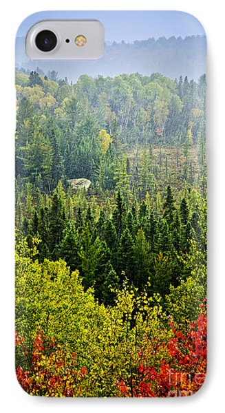 Fall Forest Rain Storm Phone Case by Elena Elisseeva