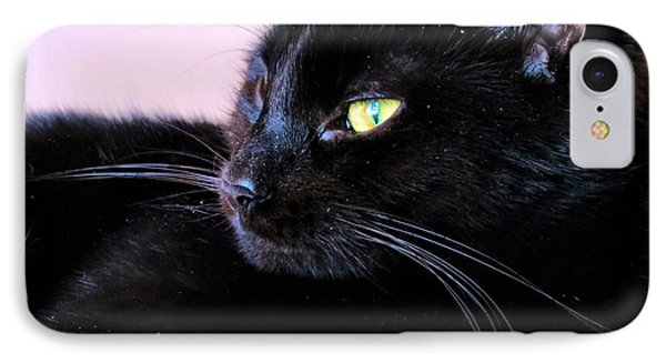 Green Eyes IPhone Case by Art Dingo
