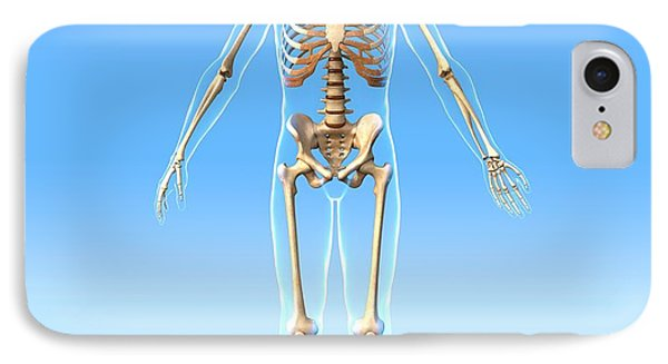 Male Skeleton, Artwork Phone Case by Roger Harris