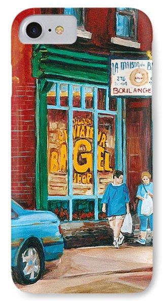 St. Viateur Bagel Shop Phone Case by Carole Spandau