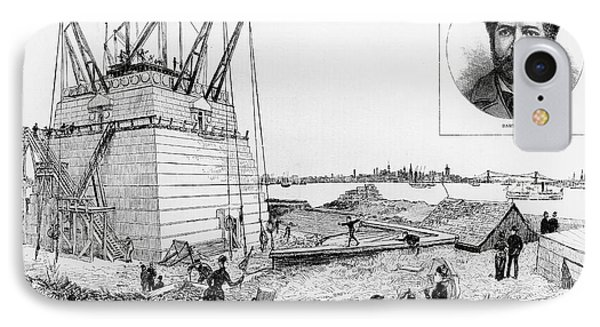 Statue Of Liberty, C1884 Phone Case by Granger