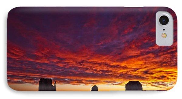 Sunrise Over Monument Valley, Arizona Phone Case by Robert Postma