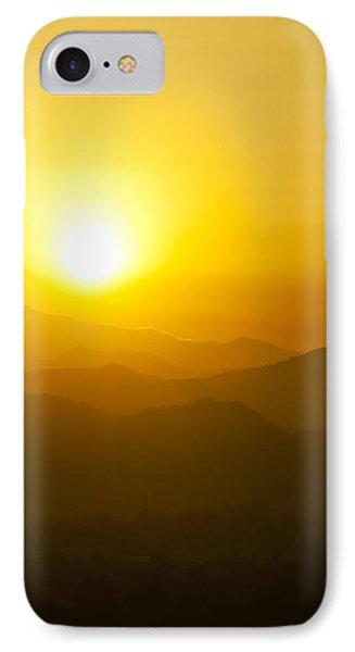 Sunset Behind Mountains Phone Case by Ulrich Schade